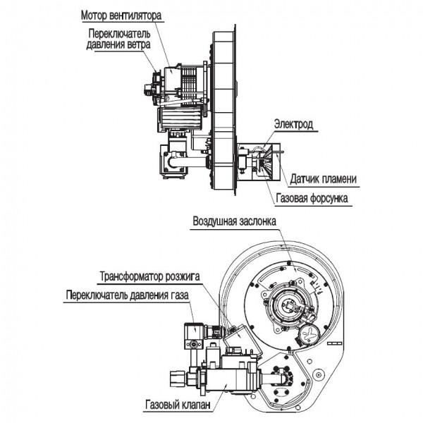 Navien GST-60K White, Газовый напольный котёл Навьен