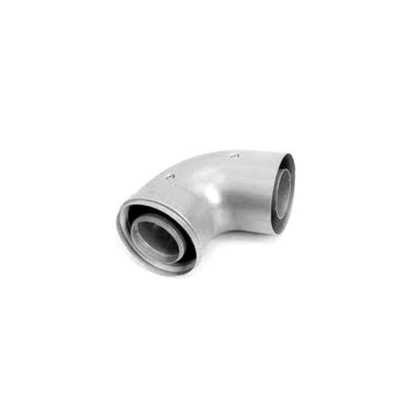 Колено коаксиальное Navien 90 ̊̊, Ø 60/100 мм, серебряный