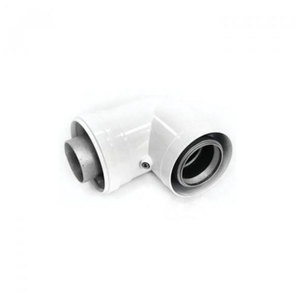 Колено Navien BCSA 1004 коаксиальное 90°, Ø60/100 мм, белый