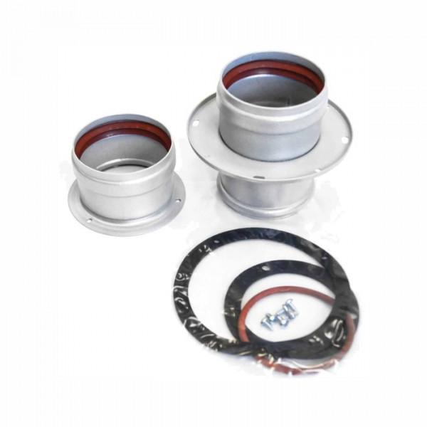 Комплект Navien BCSA 0498 для раздельной системы дымоудаления, серебряный