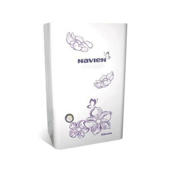 Navien Ace-16K Turbo White с цветком, Газовый настенный котёл Навиен