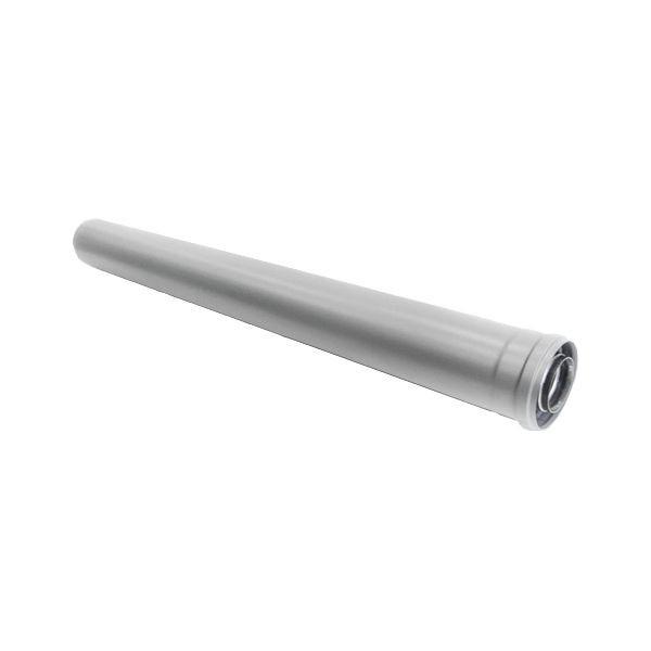 Удлинитель коаксиальной трубы Navien Ø 60/100 мм, L=1000 мм, серебряный