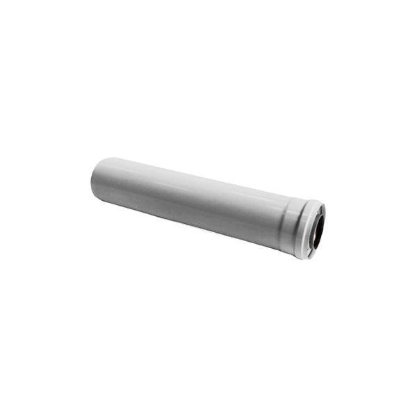 Удлинитель коаксиальной трубы Navien Ø 60/100 мм, L=500 мм, серебряный