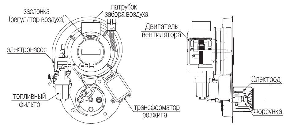 Структура горелки котла Navien LFA-24K