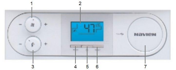 Панель управления котла Navien NCN-40KN