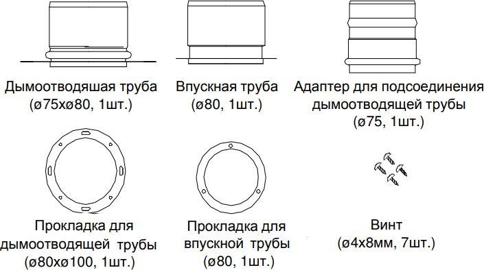 Состав комплекта Navien BCSA 0498